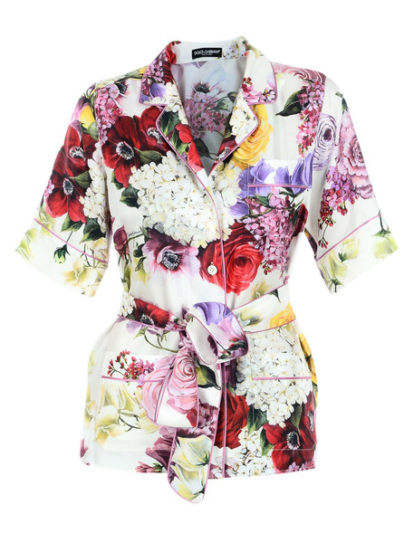 Dolce & Gabbana Blouse With Belt in white