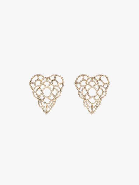 Rosantica Spiga crystal heart earrings in gold