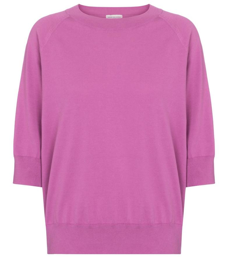 Dries Van Noten Cotton top in pink