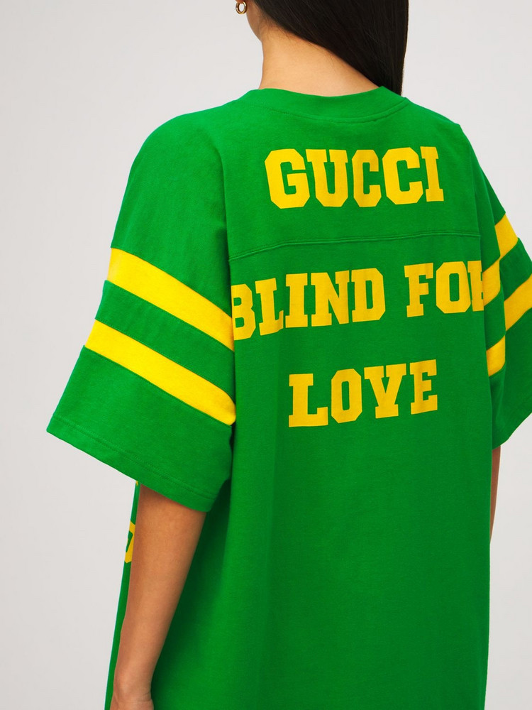 GUCCI Cotton Jersey T-shirt in green / multi