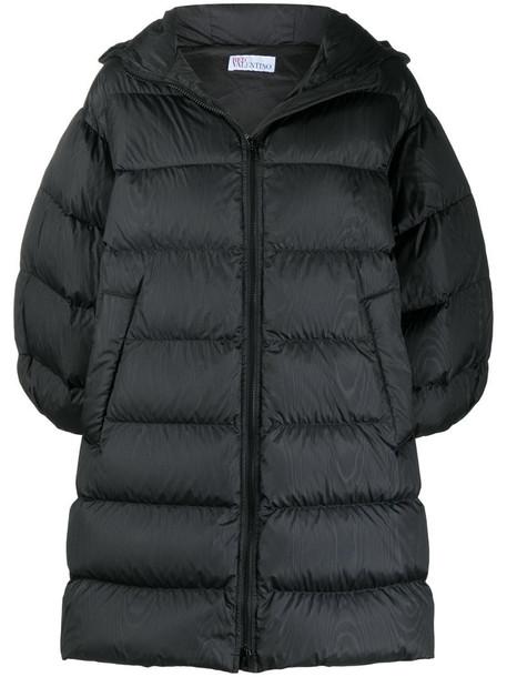 RedValentino half-sleeve down coat in black