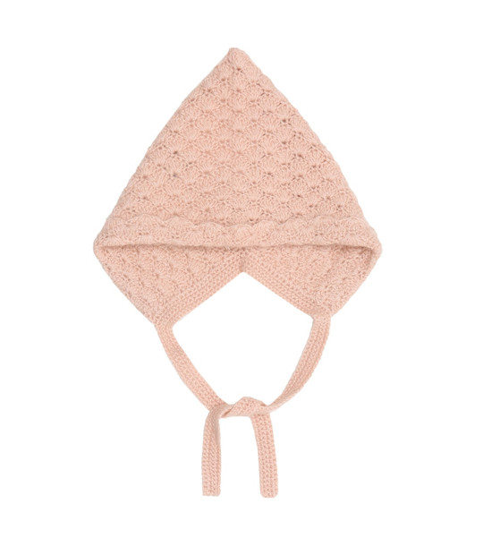 Caramel Baby Curlew cashmere hat in pink