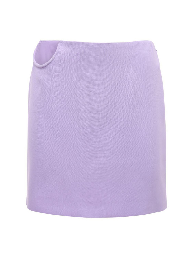 VERSACE Stretch Techno Cady Skirt in lilac