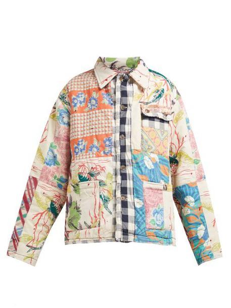 Bode - Patchwork Cotton Jacket - Womens - White Multi