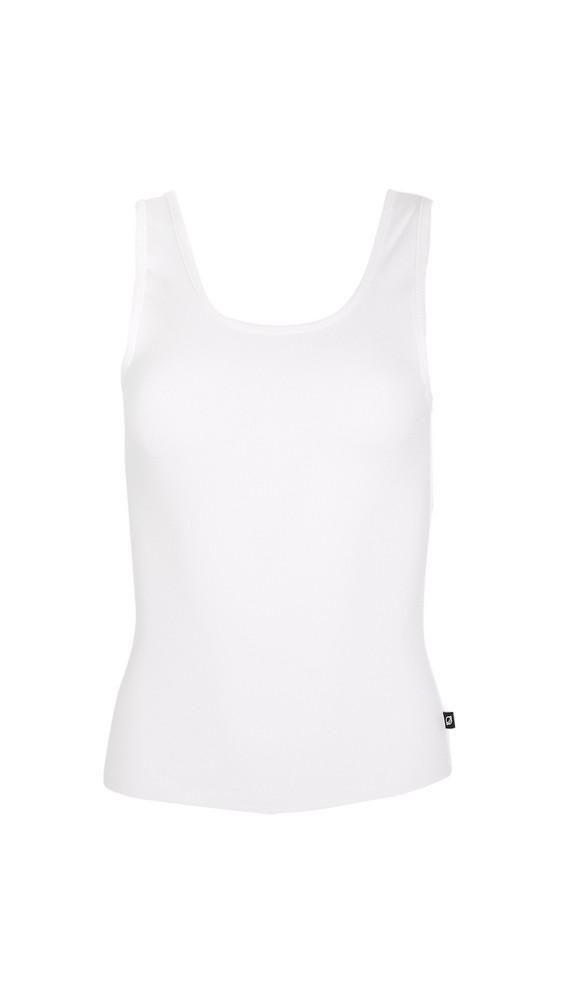 Terez Ribbed Tank in white