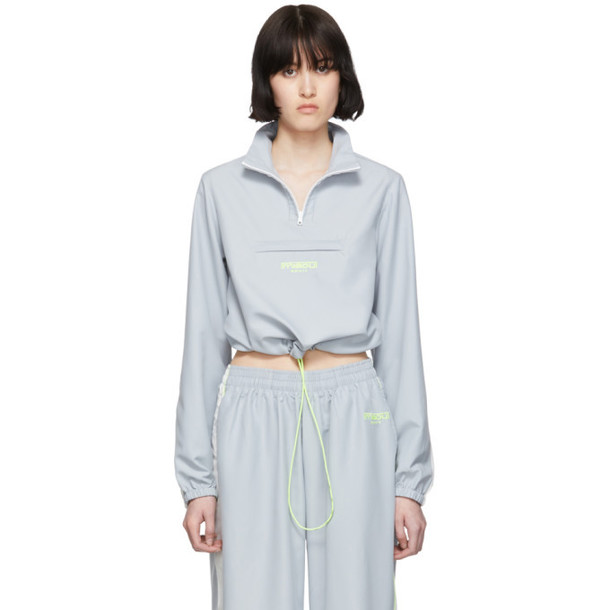 Miaou Grey Lucca Half-Zip Jacket