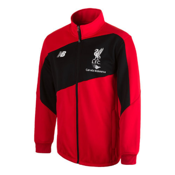 New Balance 504 Men's LFC Mens Training Walk Out Jacket - Red/White (WSJM504HRD)