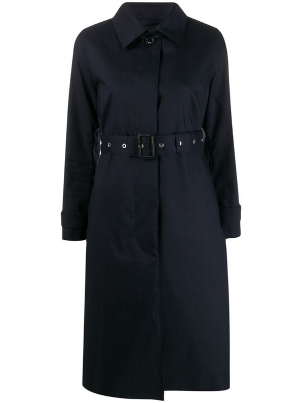 Mackintosh Nelson trench coat in blue