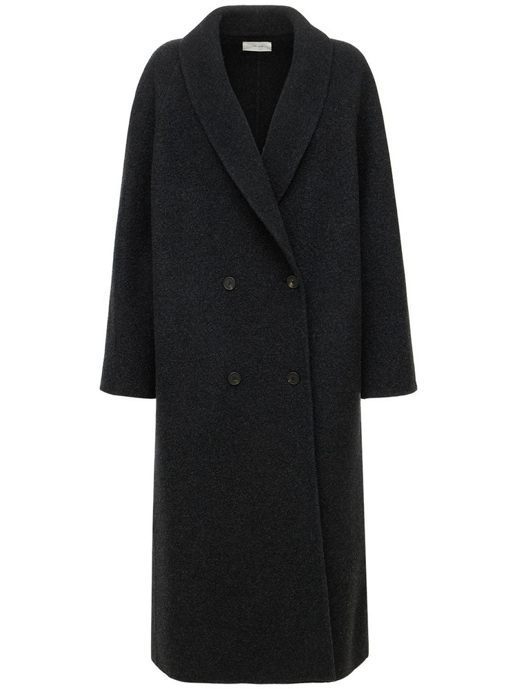 THE ROW Fleur Textured Wool & Cashmere Coat in grey