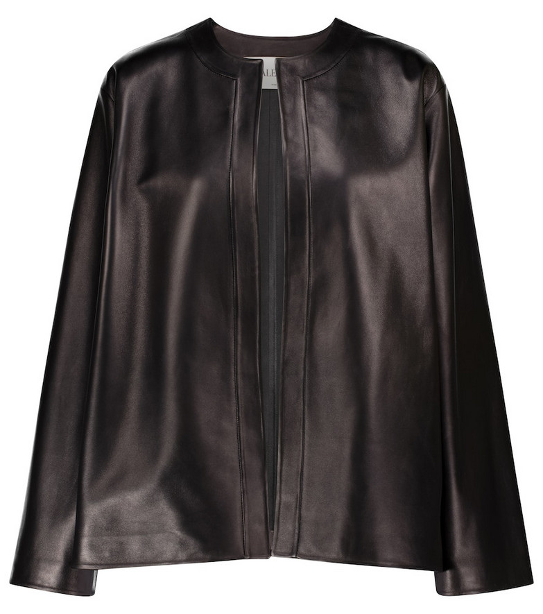 Valentino leather jacket in black