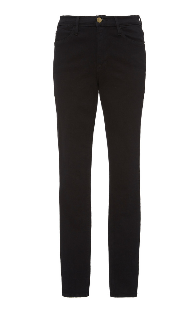 FRAME Le High High-Waisted Skinny Jeans in black