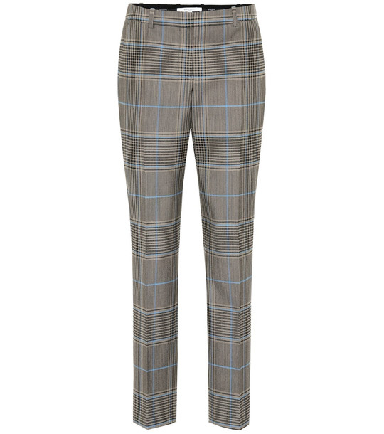 Givenchy Check wool-blend pants in brown