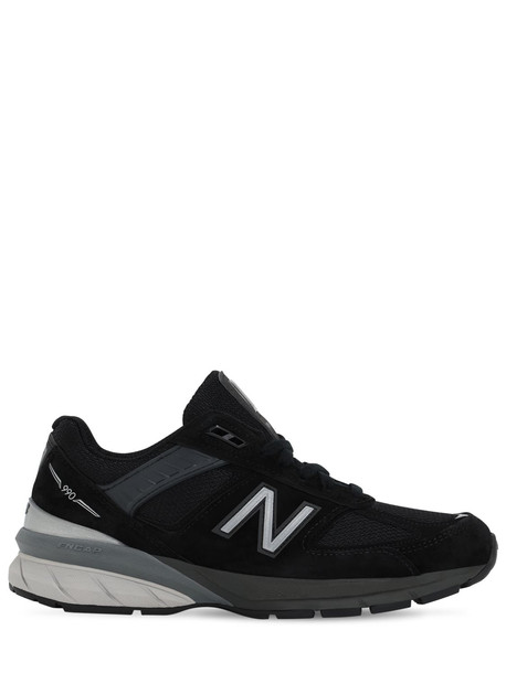 NEW BALANCE 990 V5 Suede & Mesh Sneakers in black