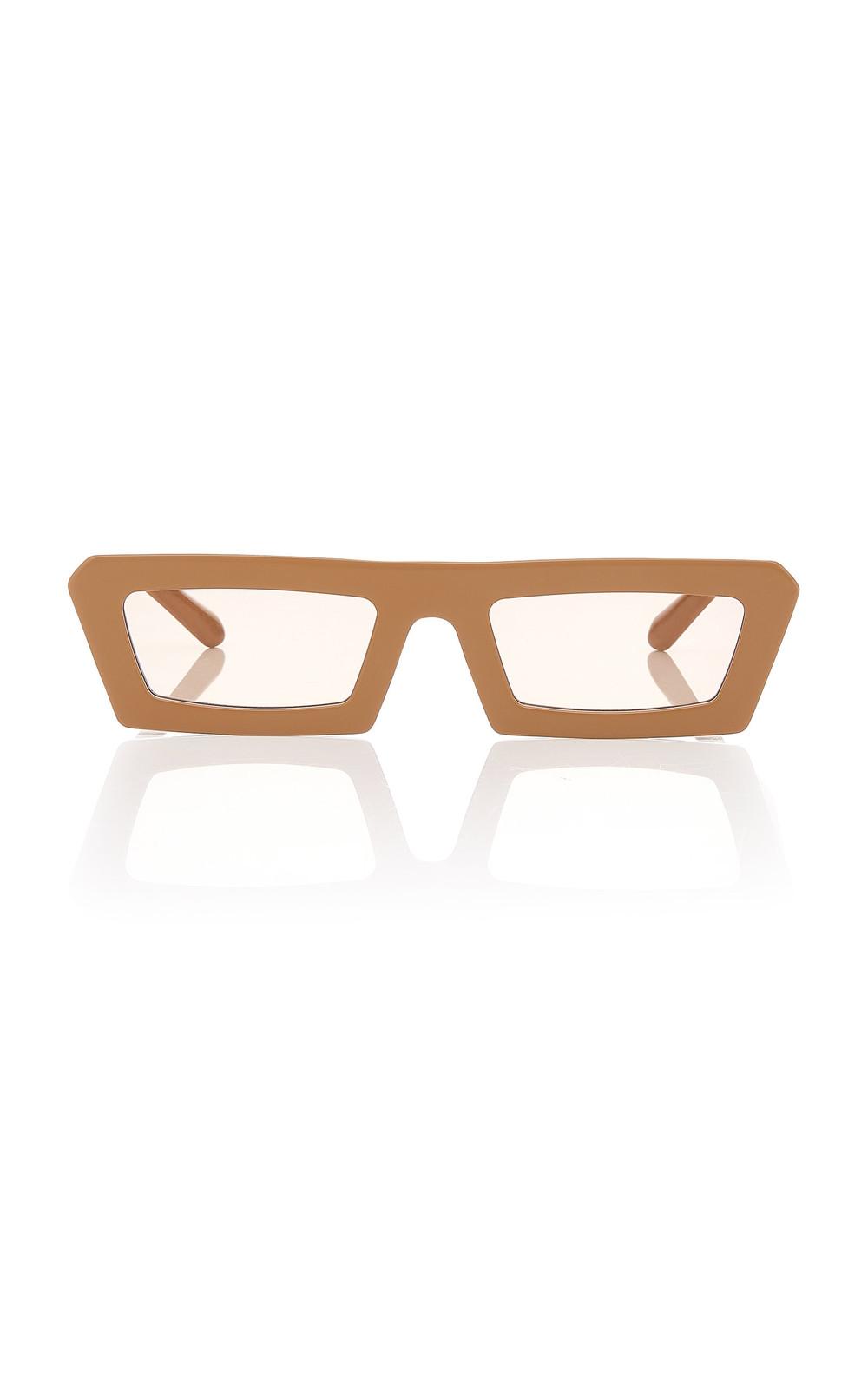 Karen Walker Shipwrecks Rectangle Acetate Sunglasses in neutral