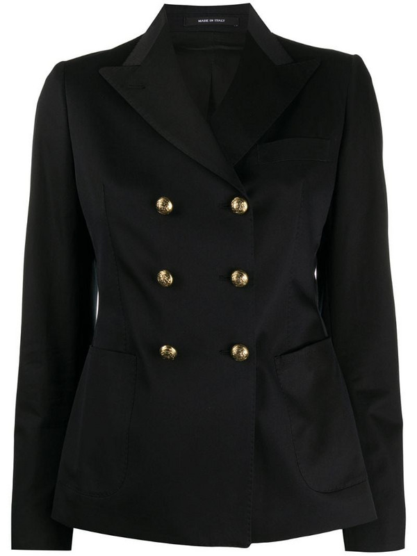 Tagliatore double-breasted blazer in black