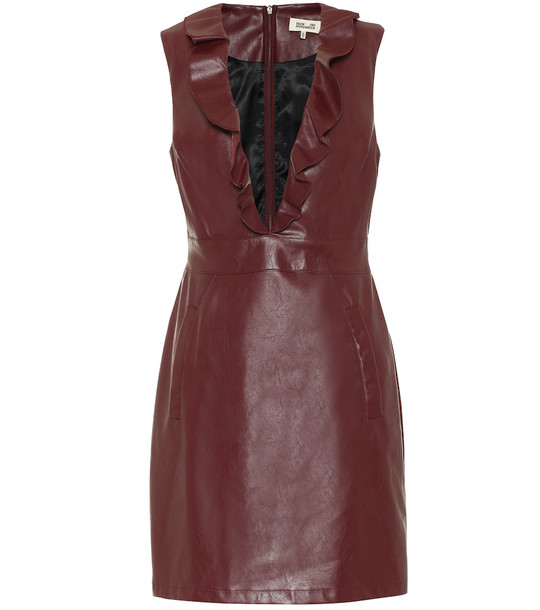 Baum und Pferdgarten Exclusive to Mytheresa – Abee faux-leather minidress in red