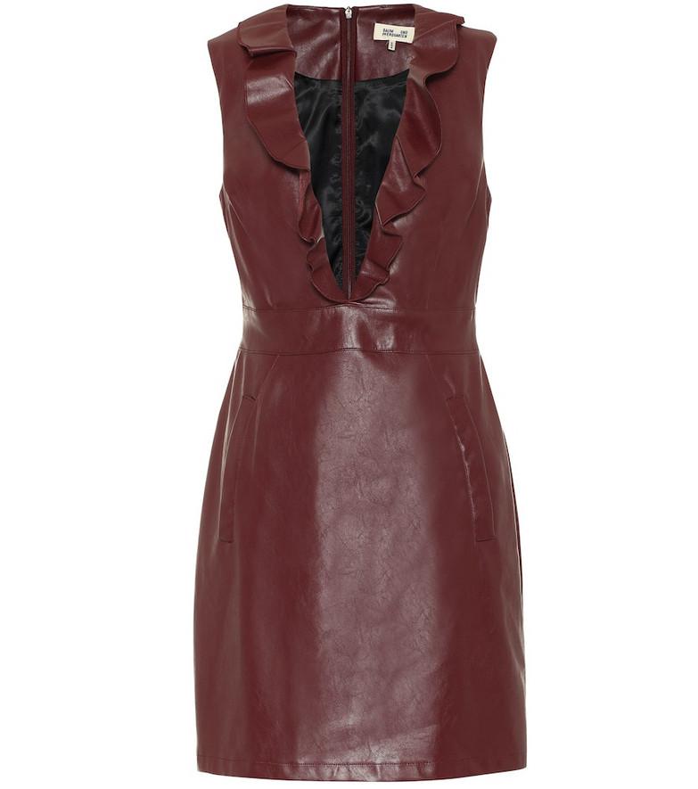 Baum und Pferdgarten Exclusive to Mytheresa – Abee faux-leather minidress in red