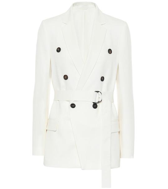 Brunello Cucinelli Wool-blend blazer in white