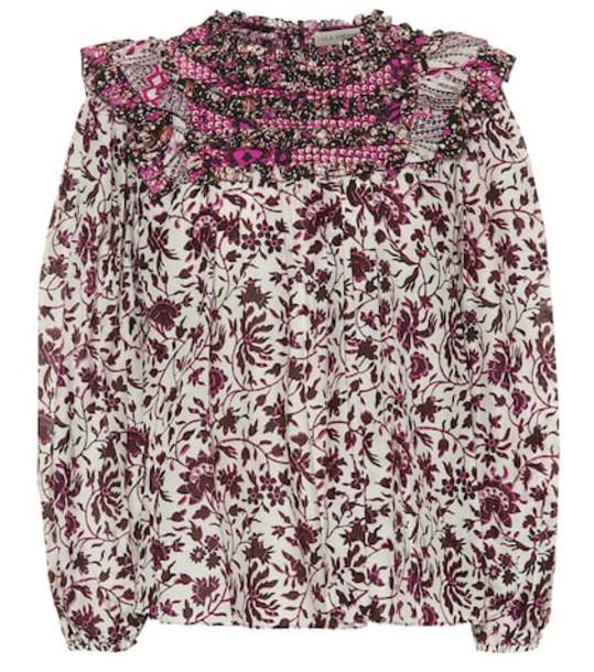 Ulla Johnson Dalma printed cotton and silk blouse in pink