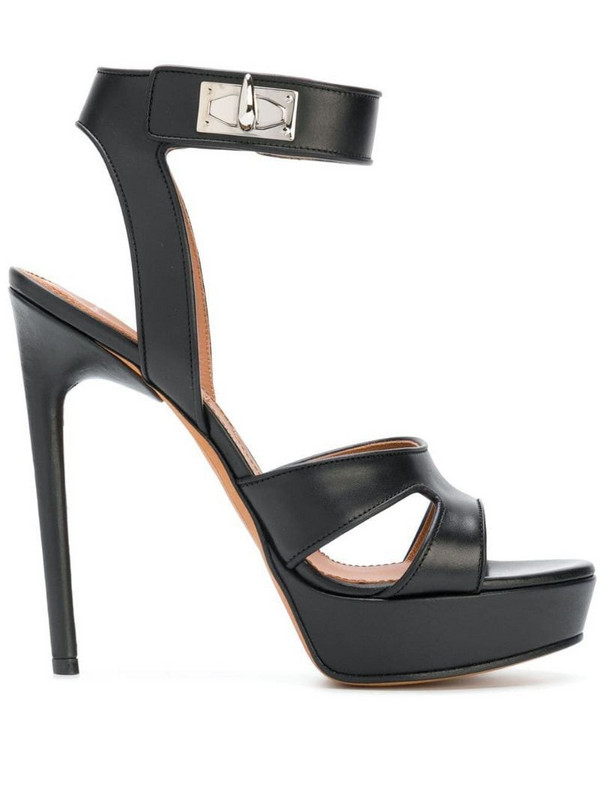 Givenchy Shark Lock sandals in black