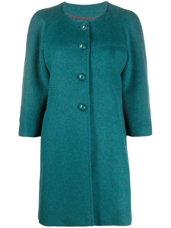 A.N.G.E.L.O. Vintage Cult 2000s collarless thigh-length coat in blue
