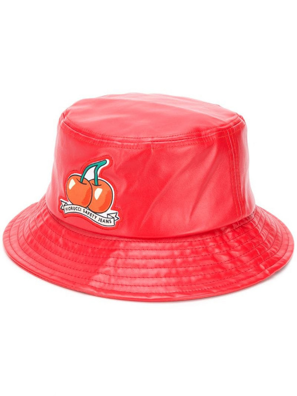 Fiorucci Cherry vinyl bucket hat in red