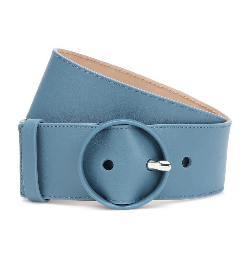 Loro Piana Leather belt in blue