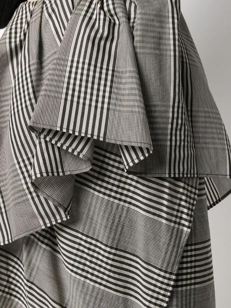 Christian Wijnants Saga asymmetric checked skirt in grey
