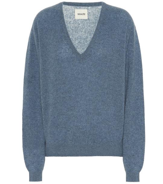 Khaite Stretch cashmere sweater in blue