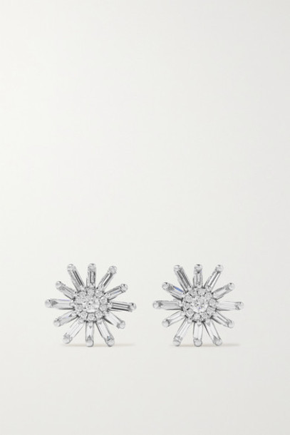 Suzanne Kalan - 18-karat White Gold Diamond Earrings