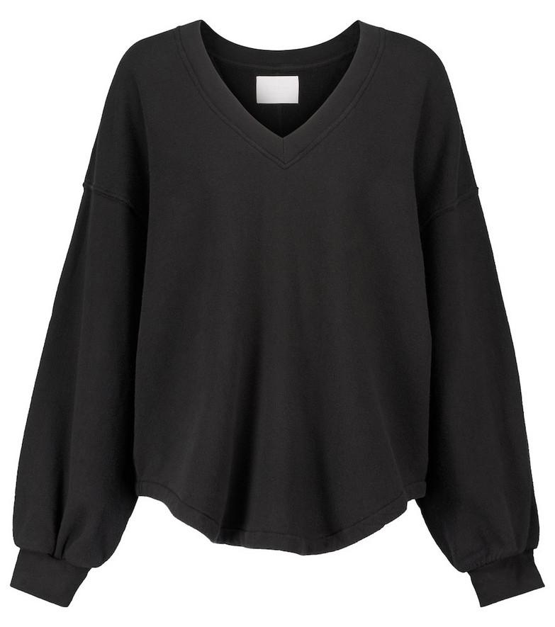 Citizens of Humanity Vivienne V-neck cotton sweatshirt in black