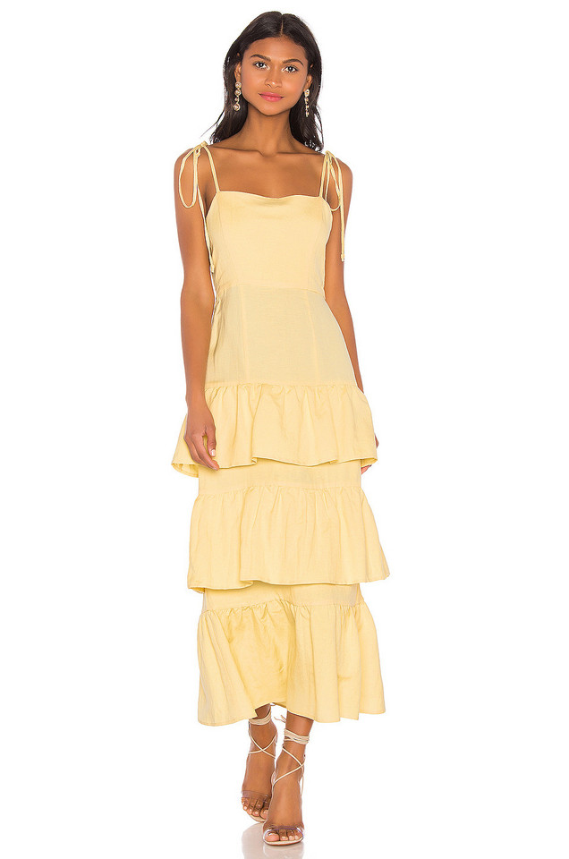 Capulet Quinn Tiered Dress in yellow