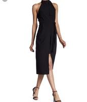 dress,abs,waist belt,black dress,classy
