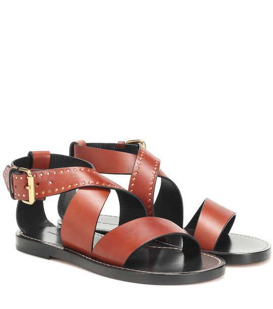 Isabel Marant Juzee leather sandals in brown