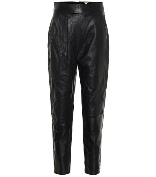 Johanna Ortiz Crossing Legacies leather pants in black