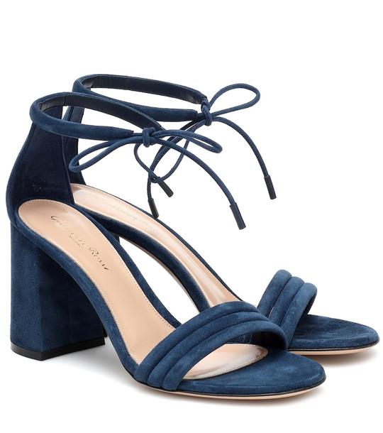 Gianvito Rossi Sydney 85 suede sandals in blue