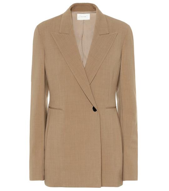 The Row Ciel wool blazer in beige