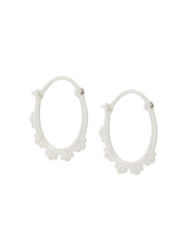 Astley Clarke floris hoop earrings in metallic