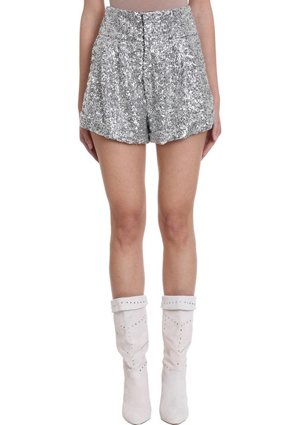 Isabel Marant Orta High-waisted Silver Sequin Shorts