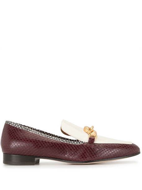 Tory Burch Jessa buckled loafers in white