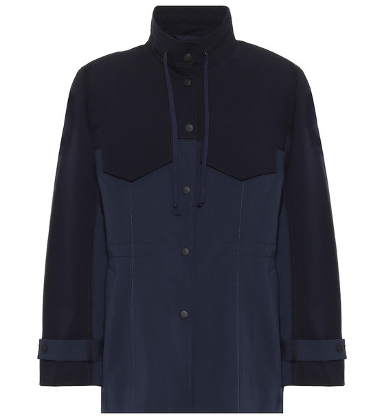 COLOVOS x Woolmark waterproof wool coat in blue