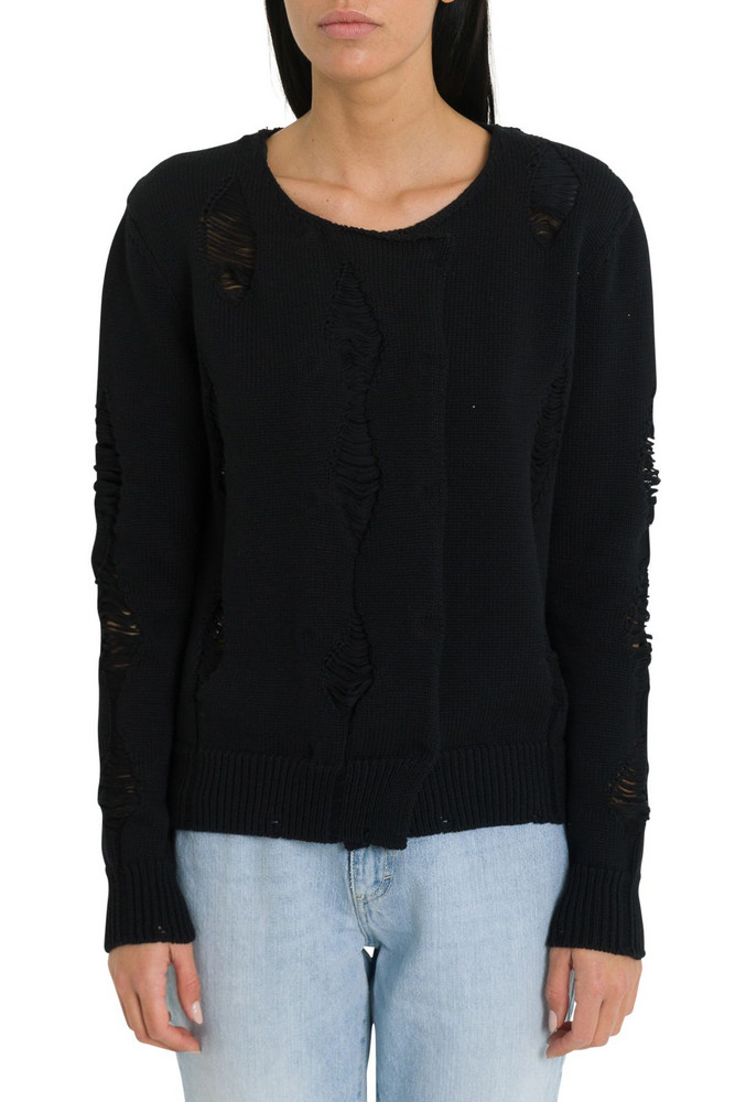Federica Tosi Ripped Sweater in nero