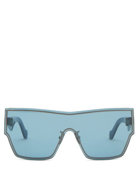 Loewe - Shield-lens Acetate Sunglasses - Womens - Blue