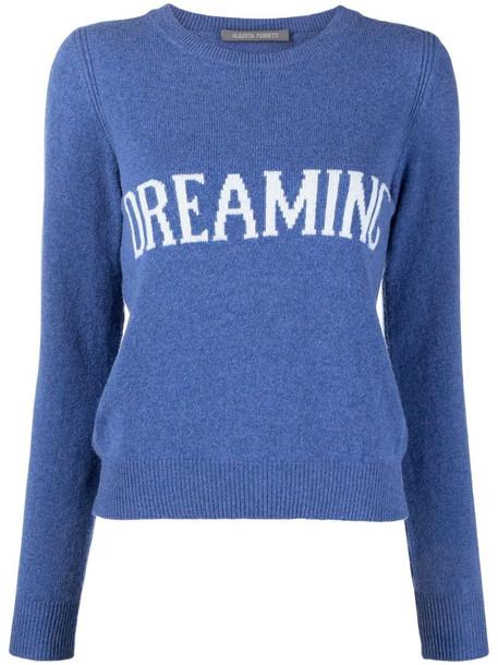 Alberta Ferretti dreaming intarsia-knit jumper in blue