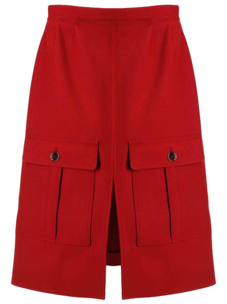 Chloé Chloé Front Slit Detail Skirt in red