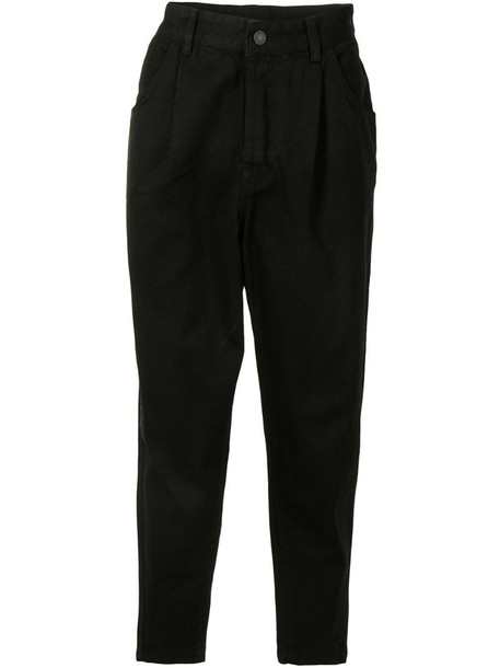 SONGZIO drop-crotch straight-leg trousers in black