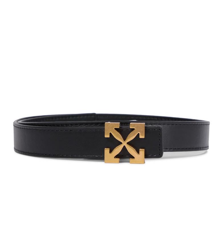 Off-White Arrows 25 leather belt in black
