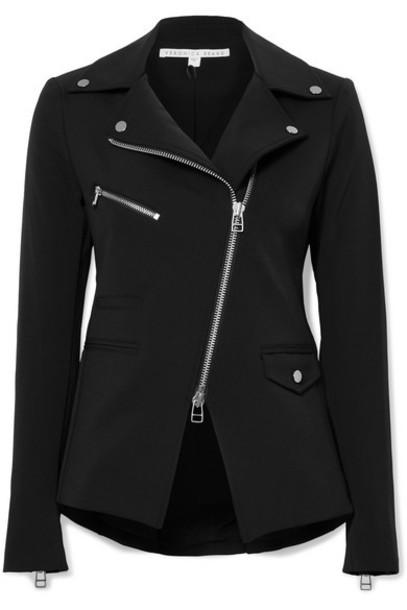 Veronica Beard - Hadley Stretch-crepe Biker Jacket - Black