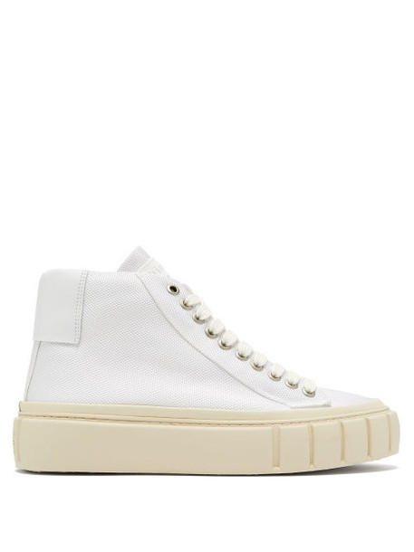 Primury - Dyo Canvas High-top Trainers - Womens - White