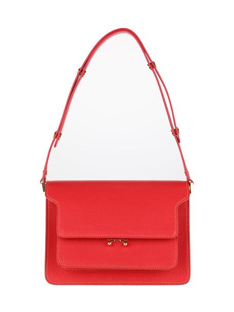 Marni Trunk Medium Shoulder Bag in red